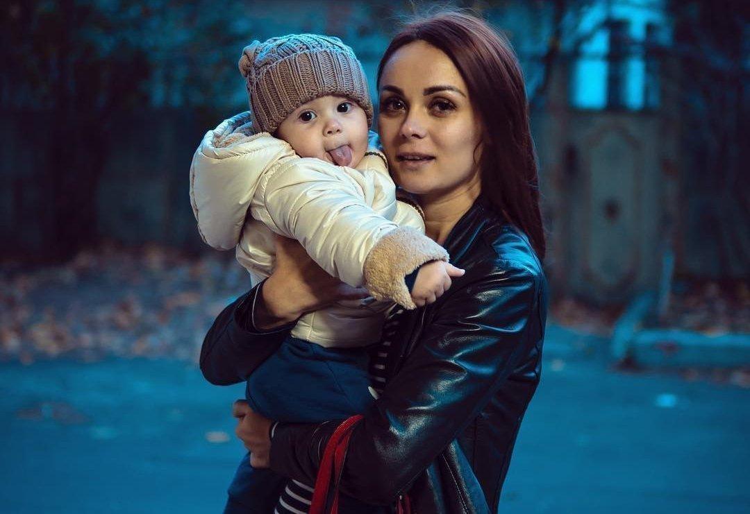 Марина (жена) с сыном