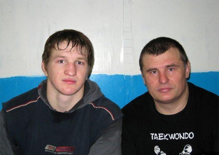 Минеев с тренером Головихиным