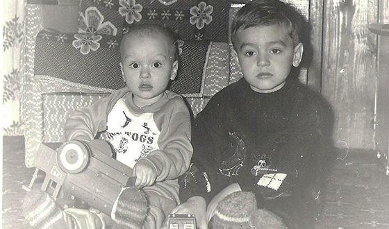 Назар Грабар с братом
