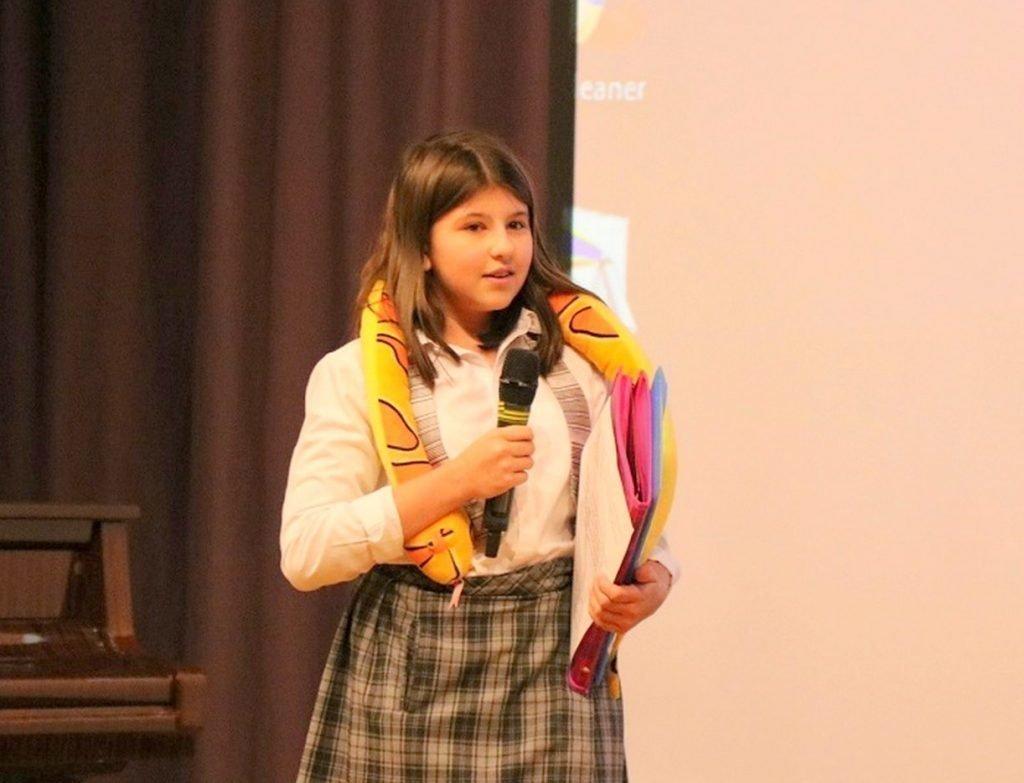 Александра Зеленская в школе