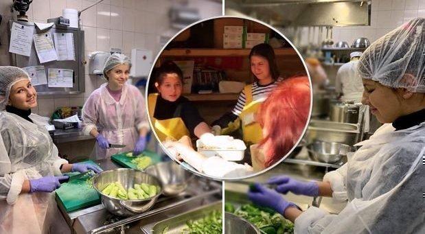 Александра Зеленская на кухне