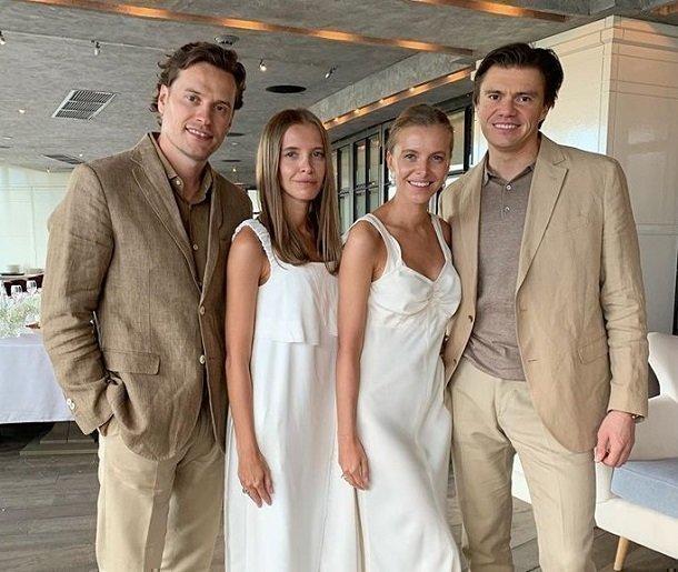 Сестры Голомаздины с мужьями