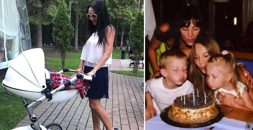 Ольга Лейбман с детьми