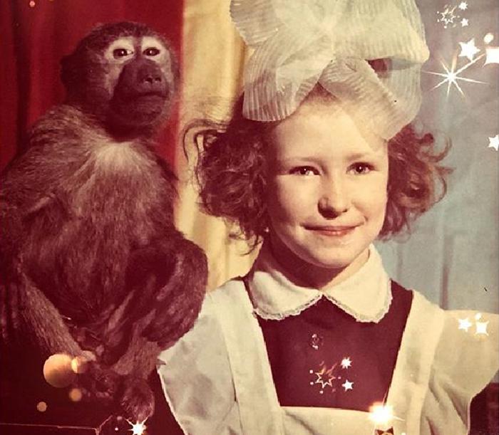 Алена Токарева в детстве