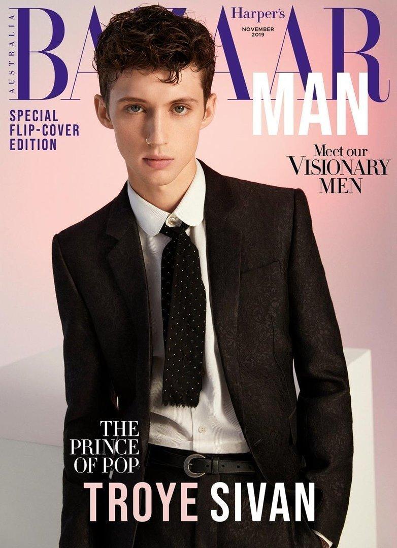 """Трой Сиван """"Harper's Bazaar""""."""