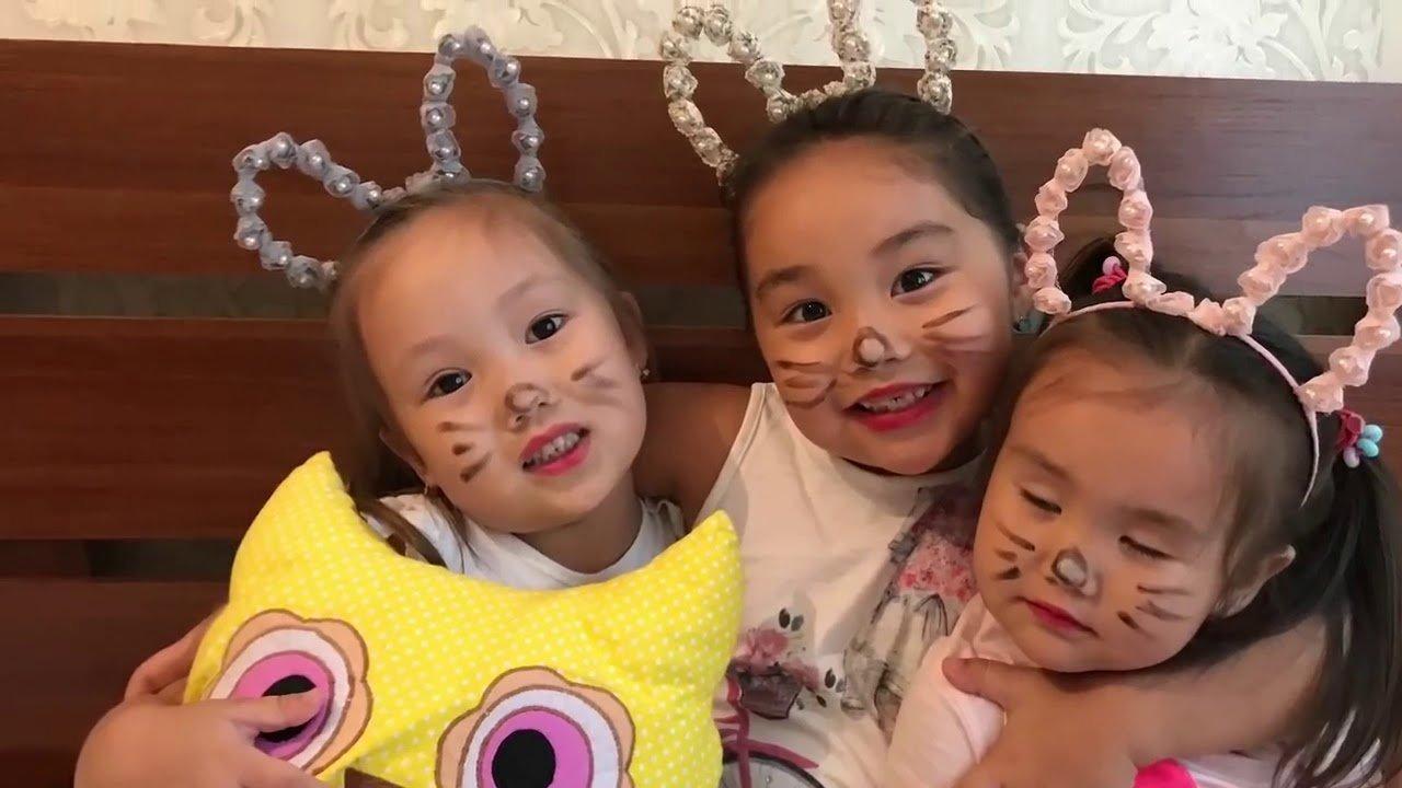Амина с сестричками
