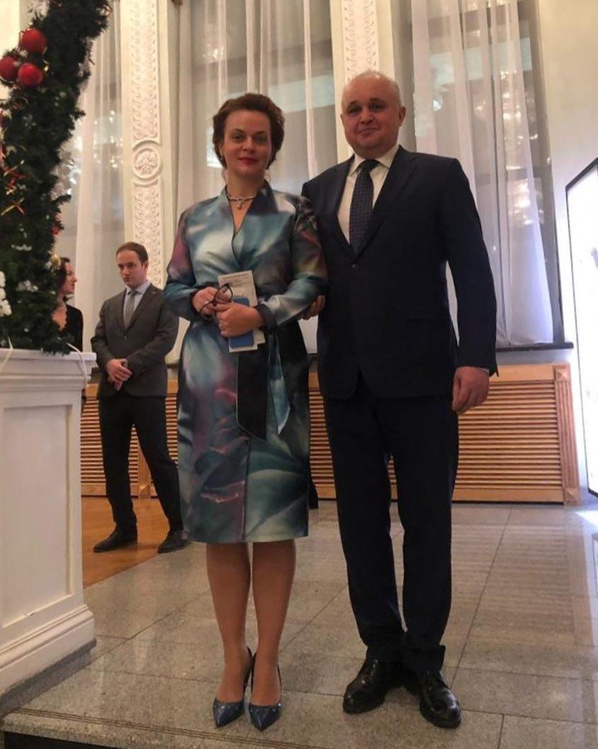 Анна Цивилева с мужем
