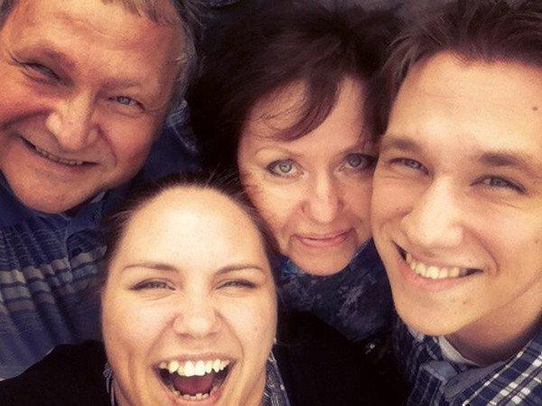 Родители и брат Ксении Корневой