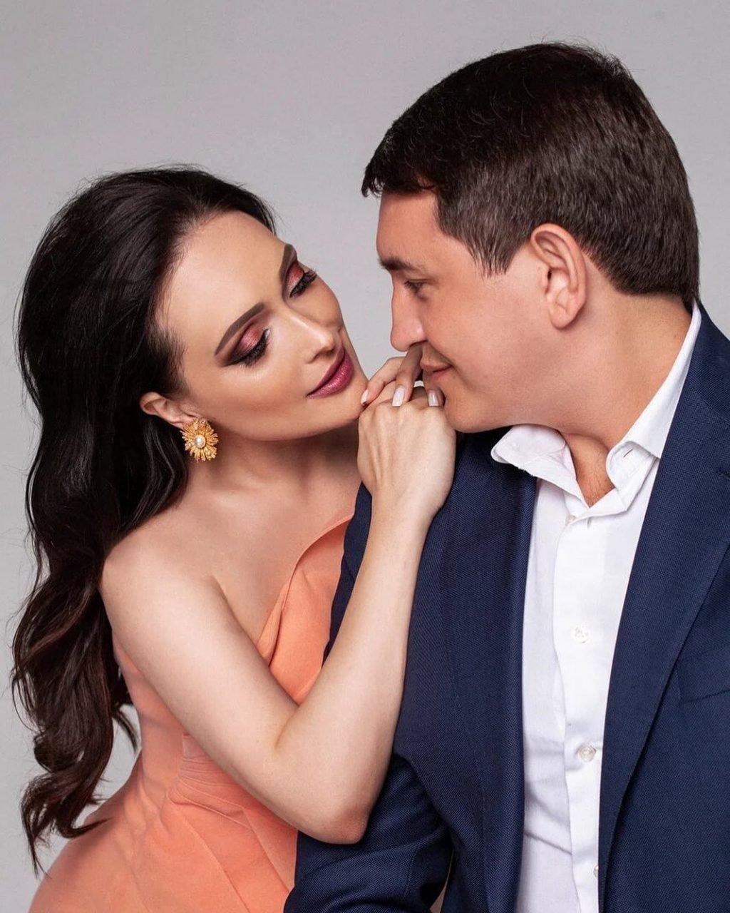 Елена Крайт с мужем