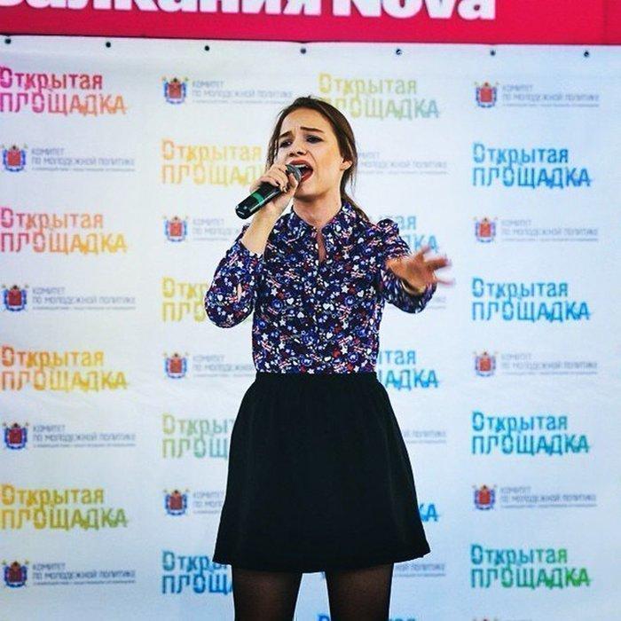 Певица Марианна Кочурова на конкурсе Открытая площадка
