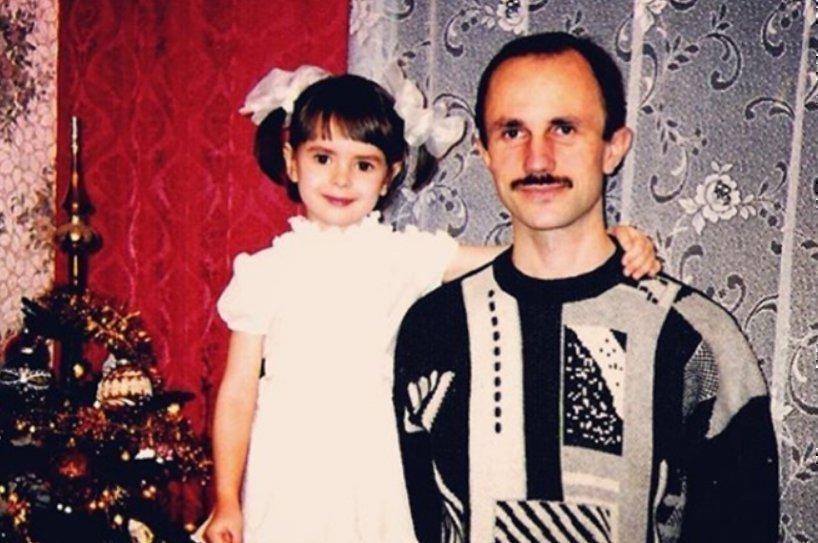 Наталья Забияко с отцом