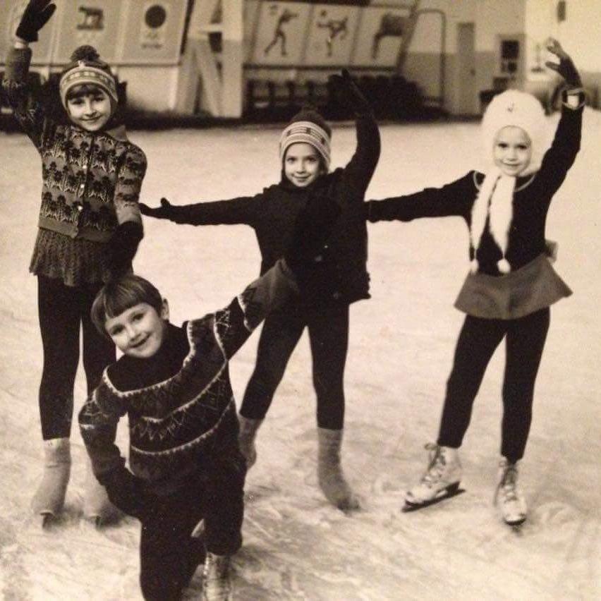 Оксана Грищук в детстве на тренировке