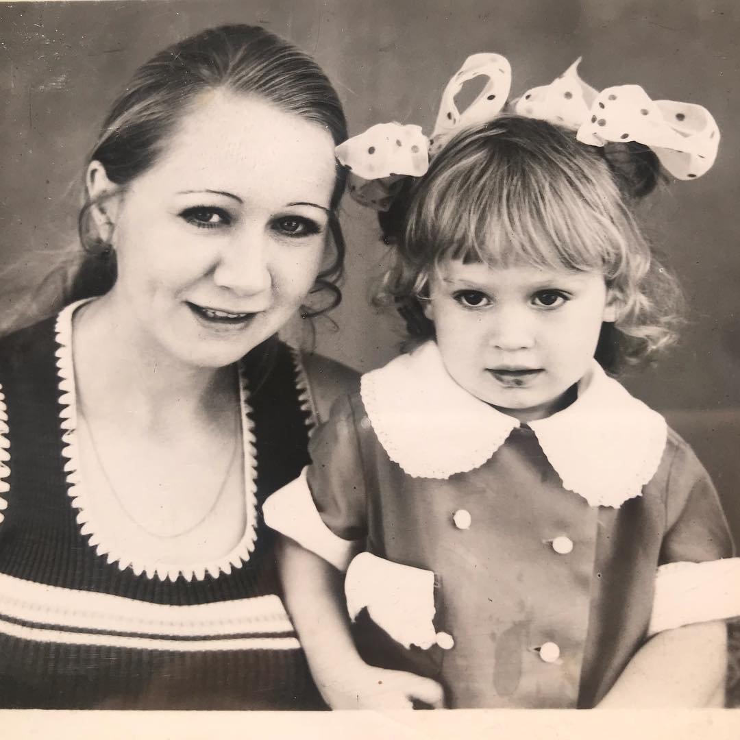 Оксана Грищук в детстве