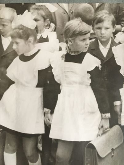 Ведущая Валентина Пиманова в детстве