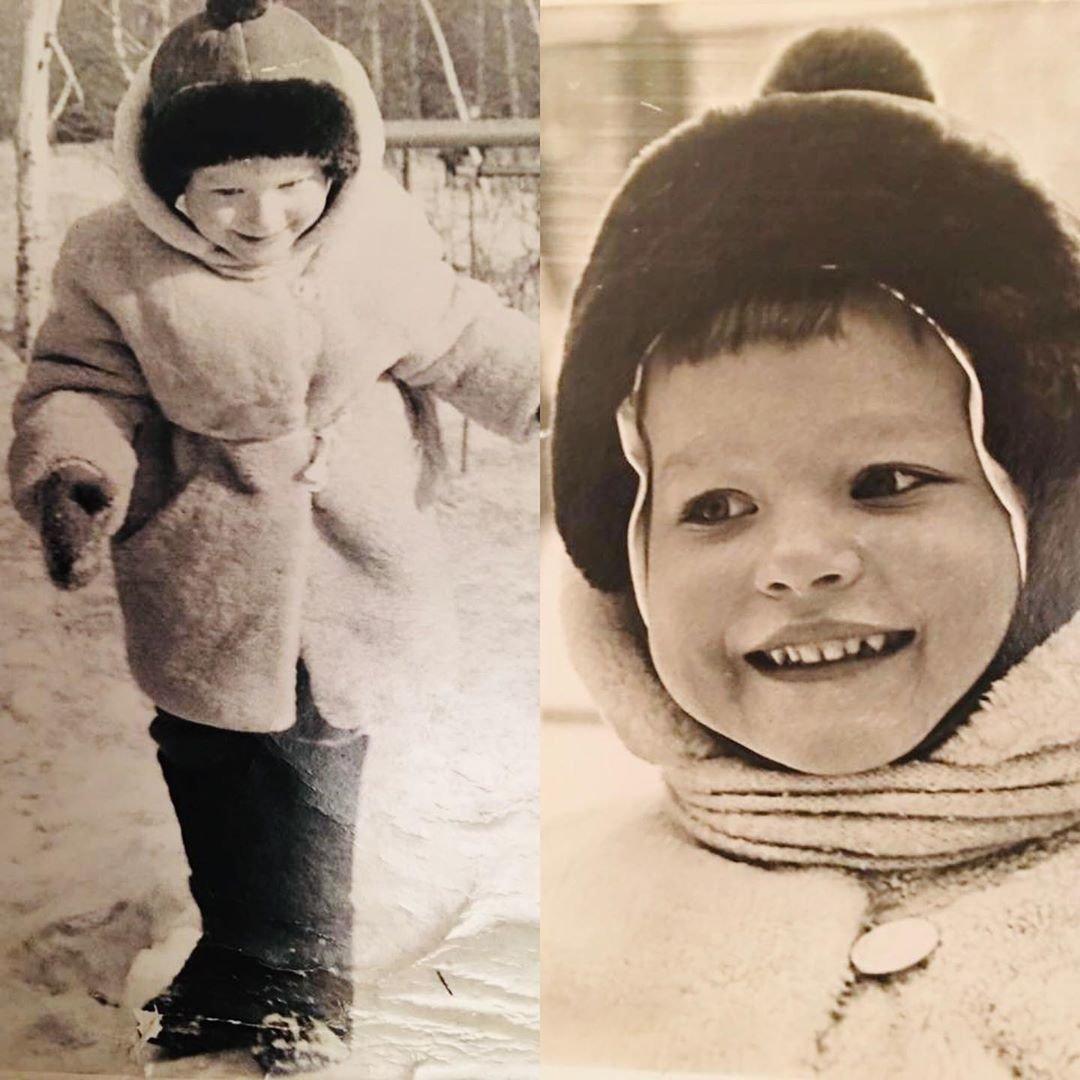 Детские фото Виктории Толстоганова