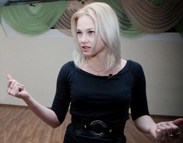 Юлия Сахневи на репетиции