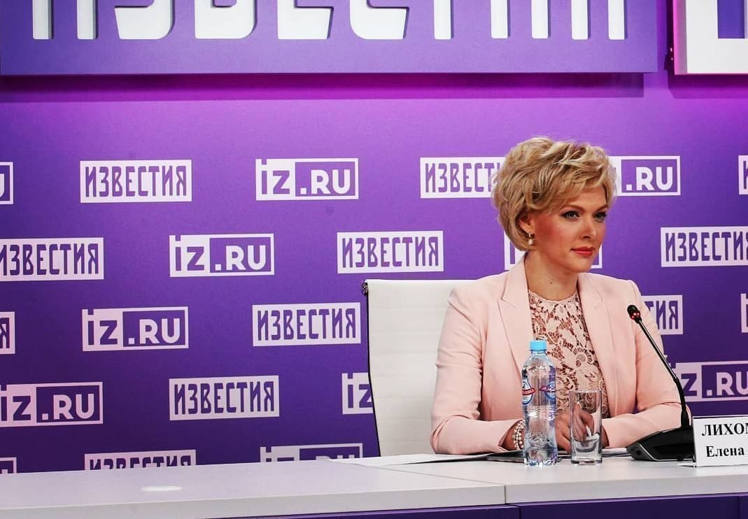 Работа телеведущей Елены Лихомановой