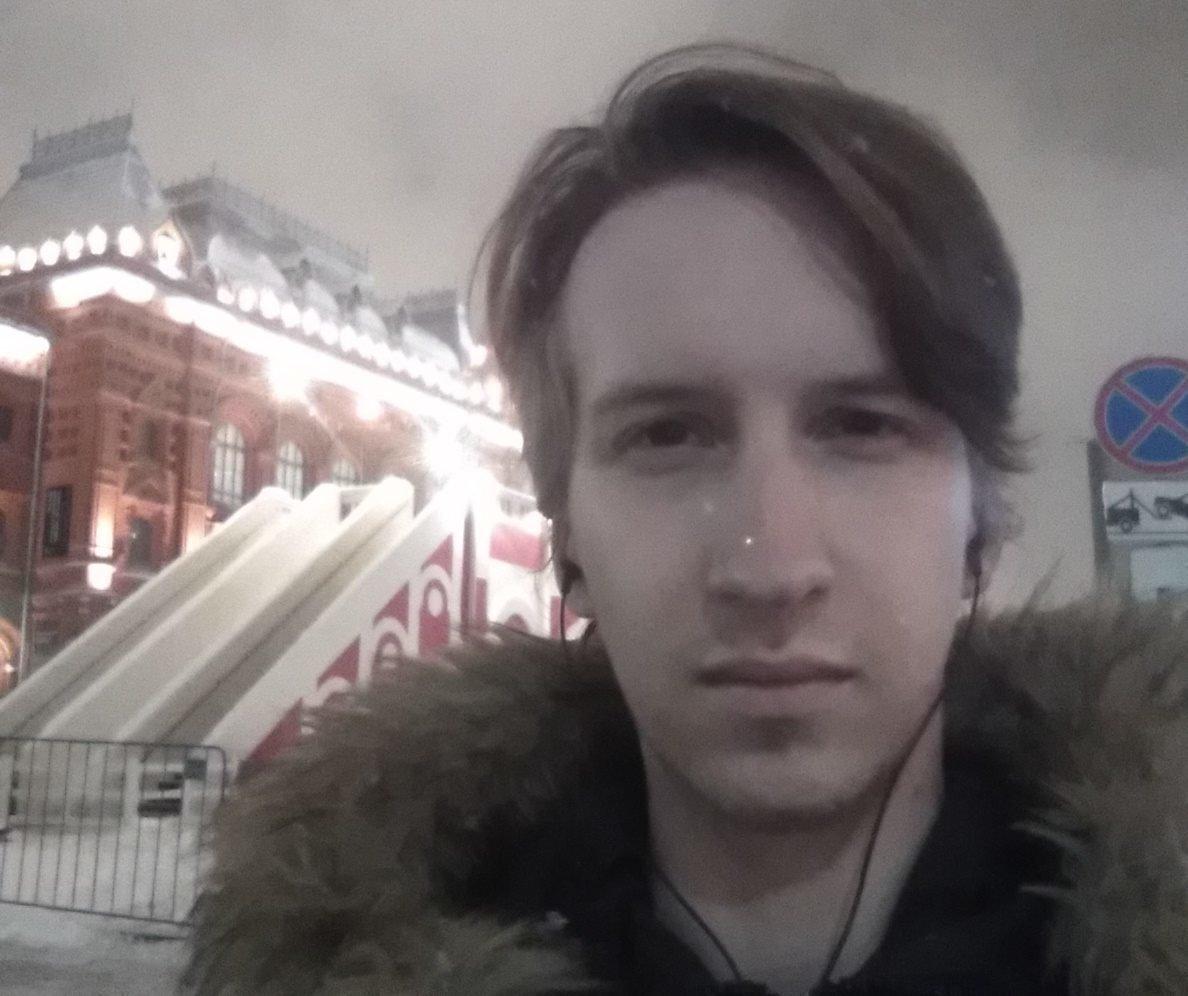Олег Робинов в юности