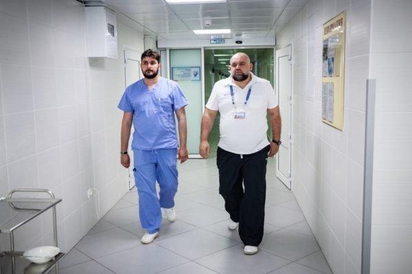 Денис Проценко в больнице