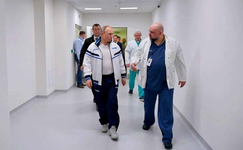 Денис Проценко и Владимир Путин в больнице №40