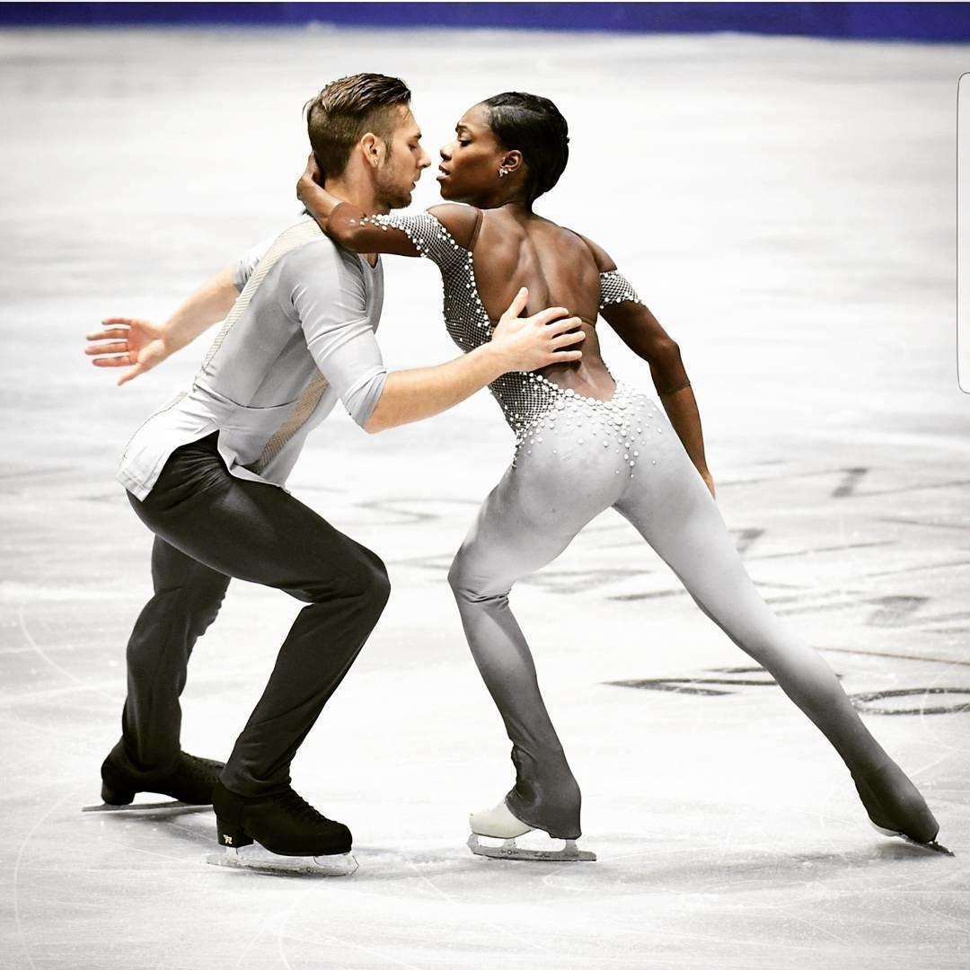 Морган и Ванесса на льду