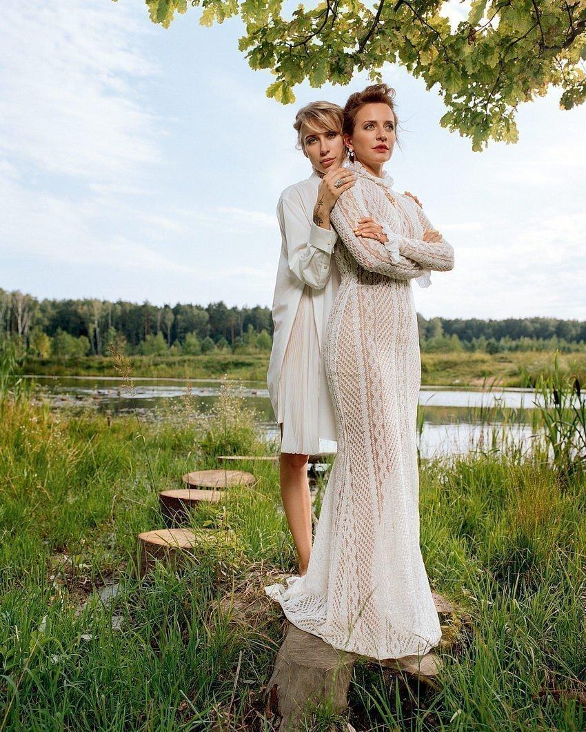 Виктория Шелягова с дочерью Варварой