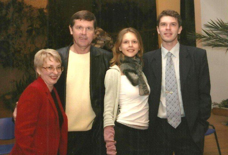 Александр Новиков и его семья