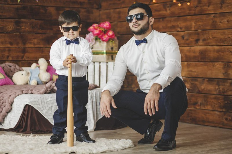 Ислам Итляшев с сыном