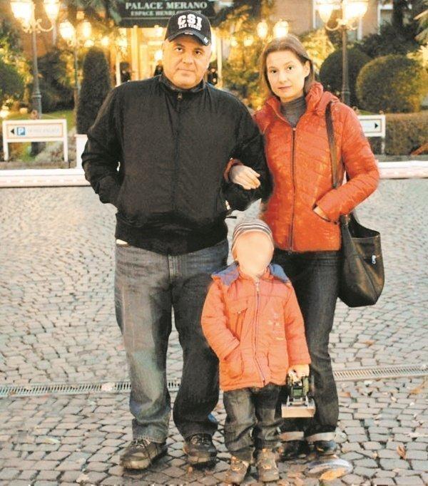 Мишустин с женой и сыном