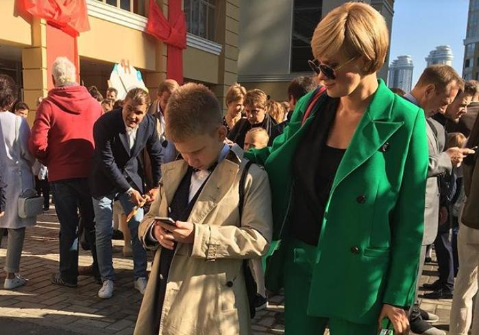 Анастасия Орлова с сыном