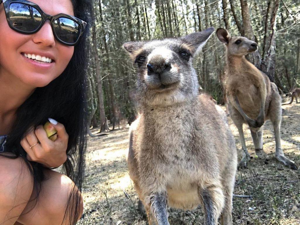 Флорида Чантурия с кенгуру