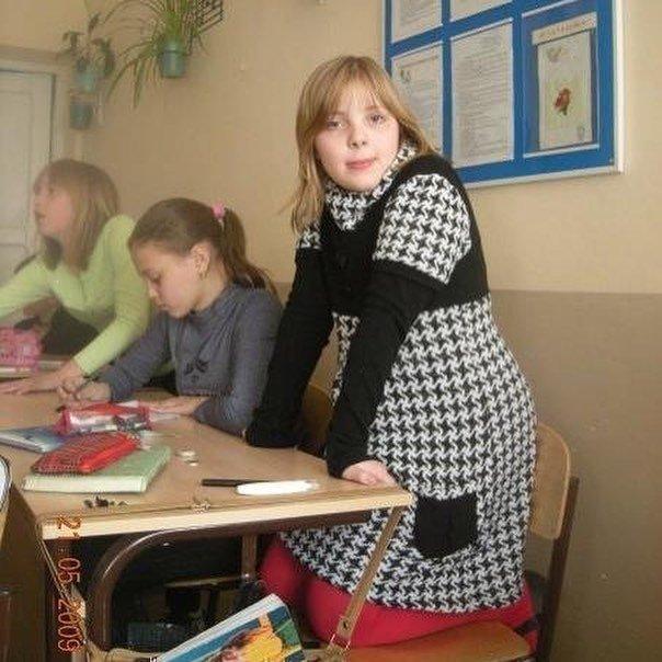 Дарья Каплан в школе
