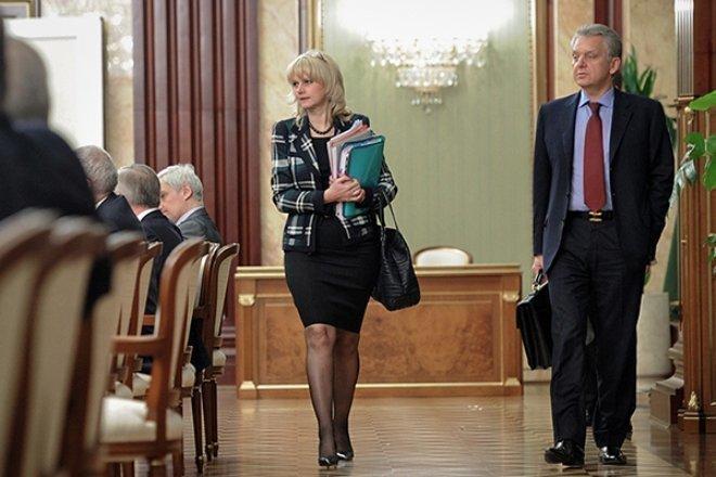 Татьяна Голикова на заседании правительства