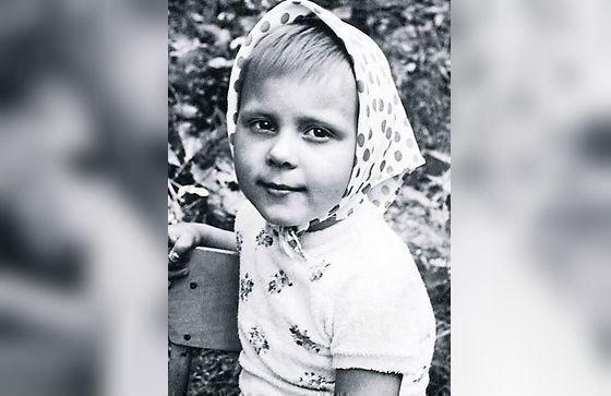 Троянова в детстве