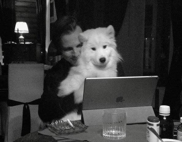 Теодор Курентзис с собакой