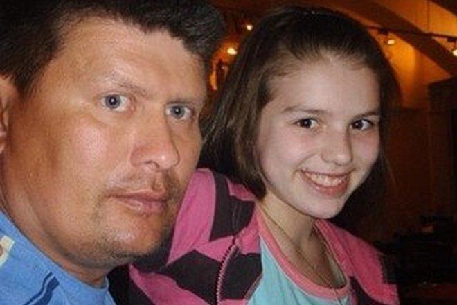 Люся Чеботина с отцом