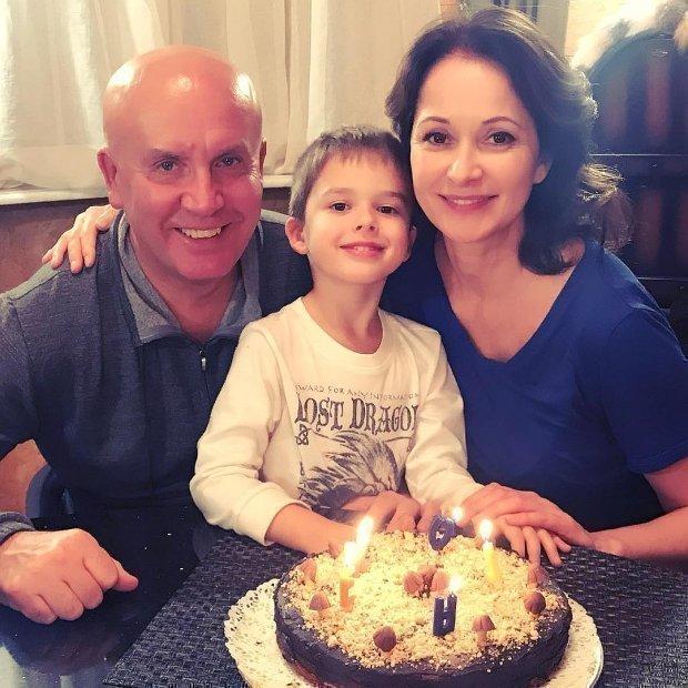 Николай Разгуляев с Ольгой Кабо и сыном