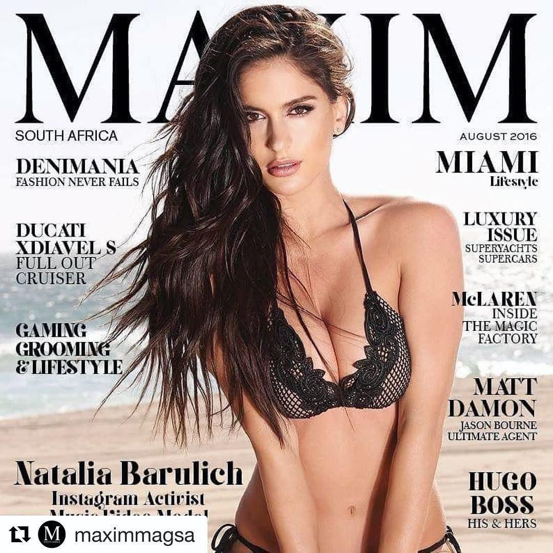 Наталья Бабулич на обложке Максим