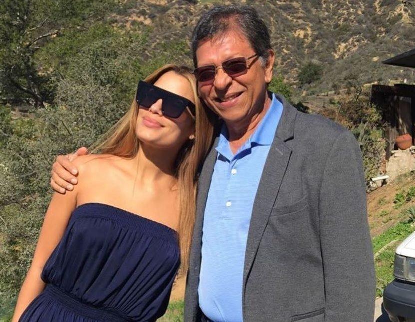 Ариадна Гутьерес со своим отцом