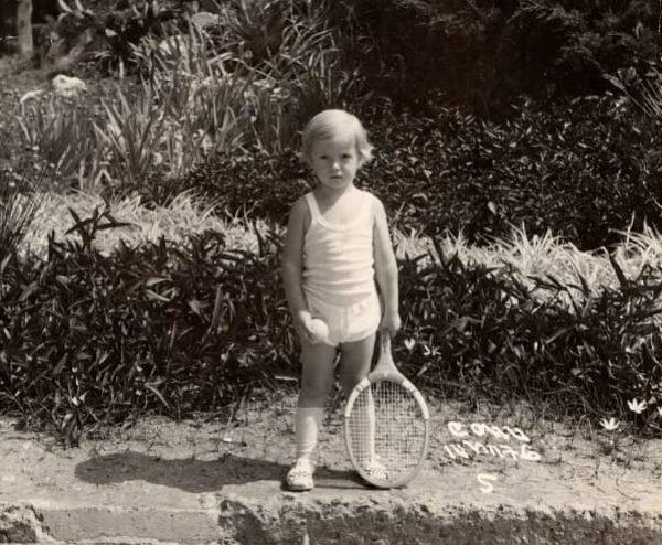 Евгений Кафельников в раннем детстве