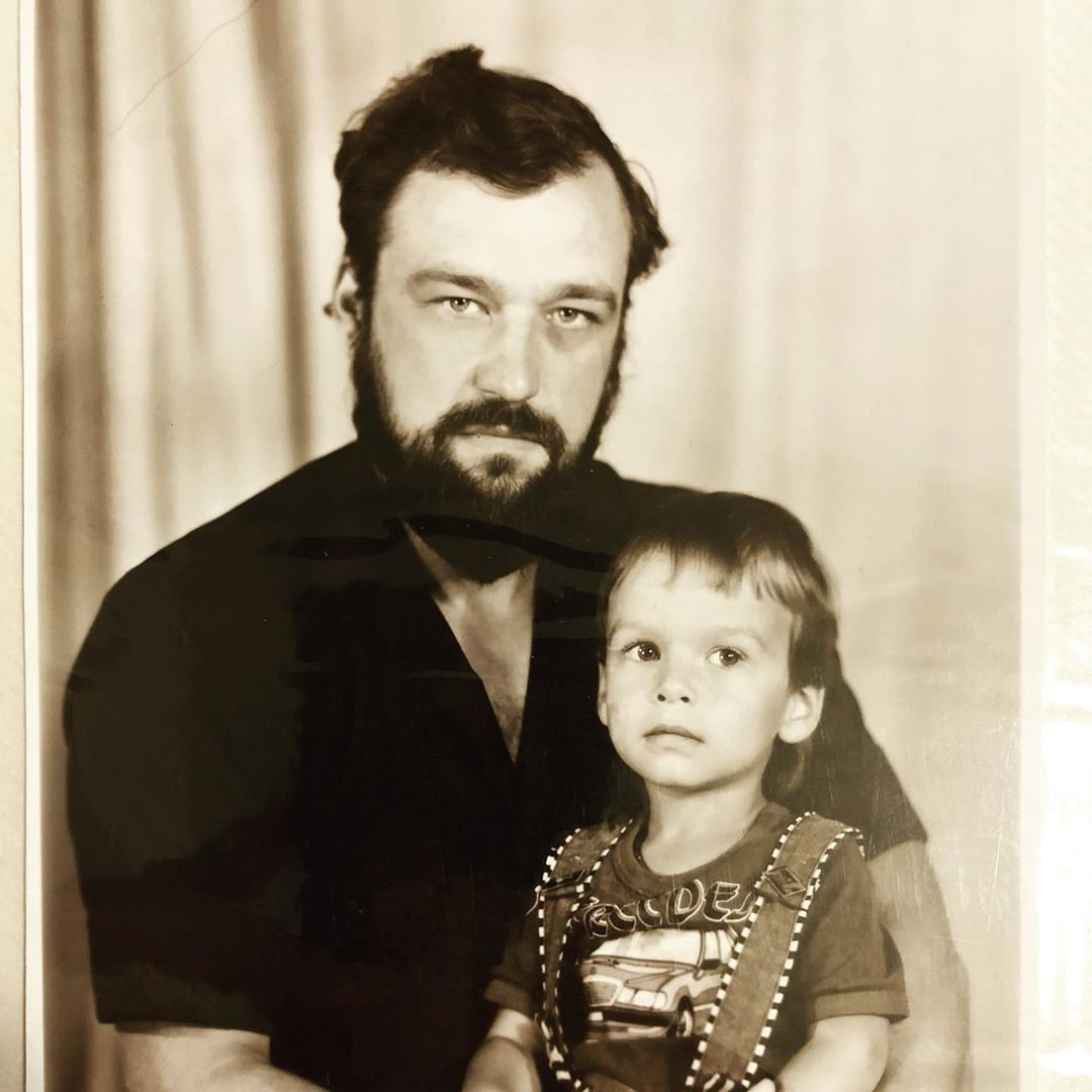 Павез Занозин с отцом