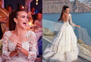 ксения дели в свадебной платье