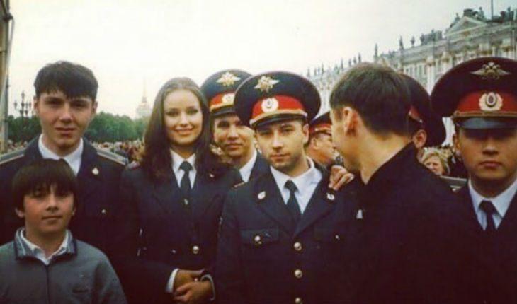Оксана Федоова в школе МВД
