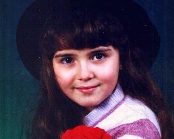 Алеса Качер в детстве