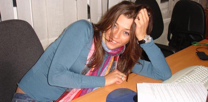 Алина Астровская в студенческие годы