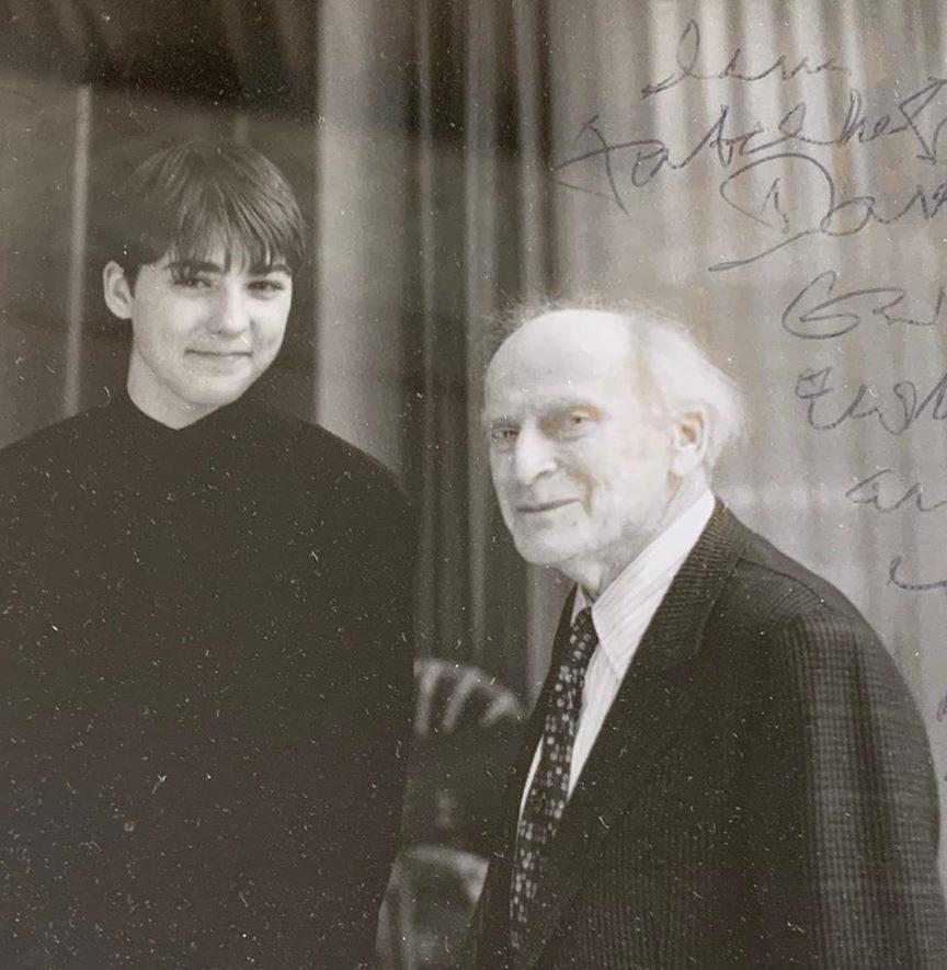 Дэвил Гаррет с Иегуди Менухином