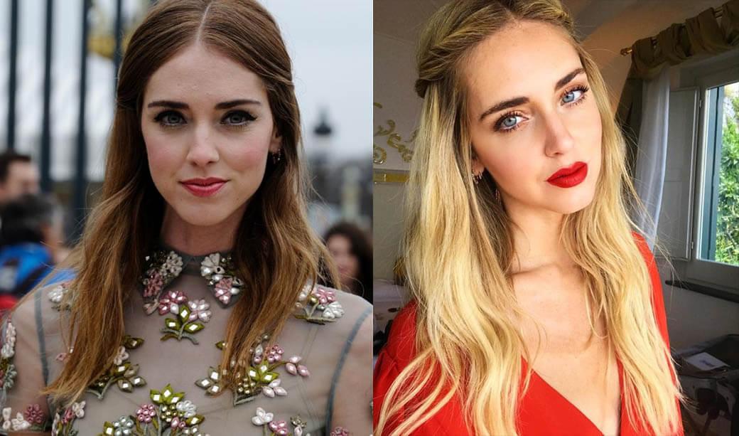 Фото Кьяры Фераньи до и после пластики губ