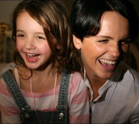 Александра с мамой Славой