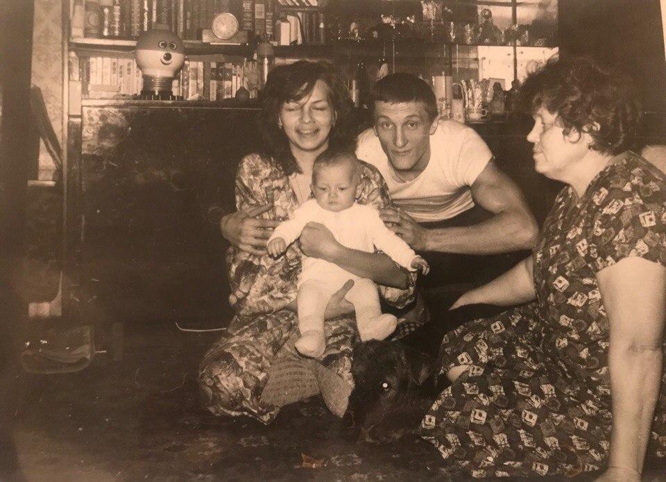 Маша Шейх с родителями