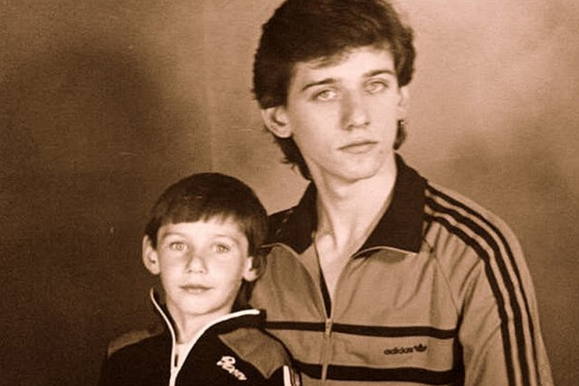 Юрий Батурин с братом Егором